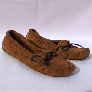 Minnetonka SZ 7 Leather Moccasins Flats Shoes ✨